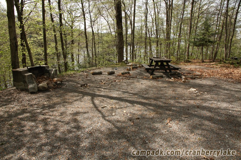 Campsite Photo of Site 20 at Cranberry Lake Campground, New York - Looking at Site from Part Way In