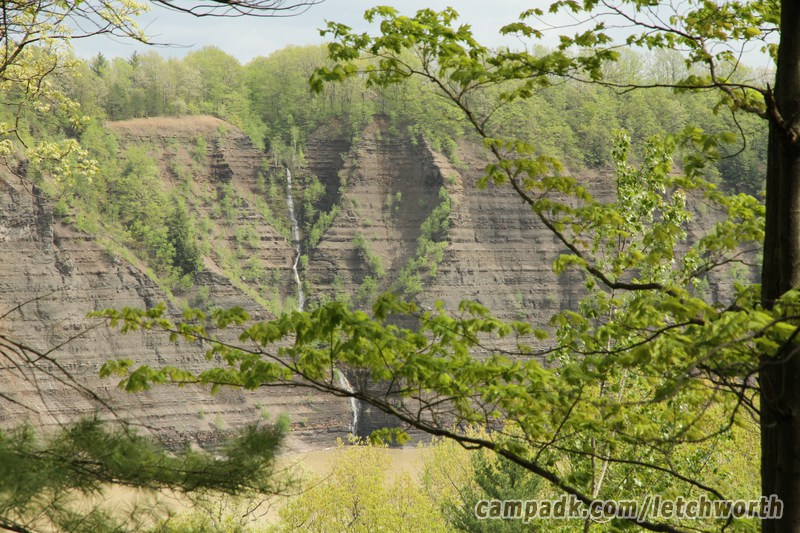 Campsite Photo of Site 117 at Letchworth State Park, New York - Looking at Site From Part Way In