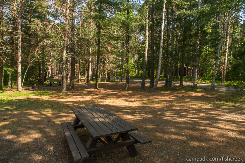 Campsite Photo of Site 87 at Fish Creek Pond Campground, New York - Cross Site View