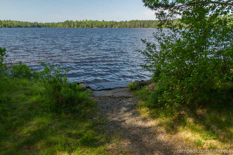 Campsite Photo of Site 88 at Fish Creek Pond Campground, New York - Shoreline