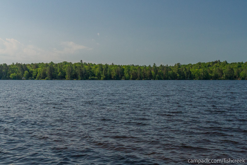 Campsite Photo of Site 88 at Fish Creek Pond Campground, New York - View from Shoreline