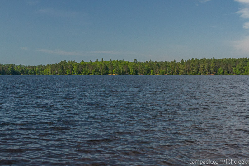 Campsite Photo of Site 93 at Fish Creek Pond Campground, New York - View from Shoreline