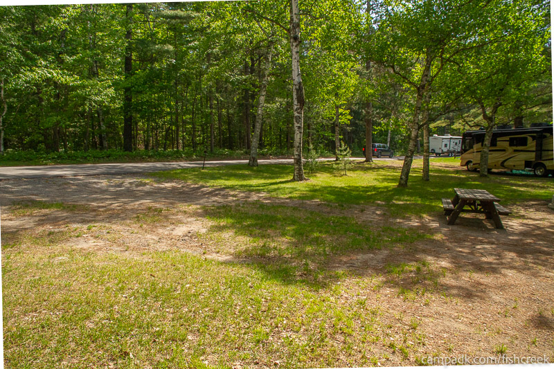 Campsite Photo of Site 99 at Fish Creek Pond Campground, New York - Cross Site View
