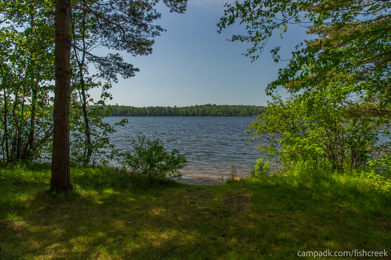 Campsite Photo of Site 99 at Fish Creek Pond Campground, New York - Pathway Down to Water
