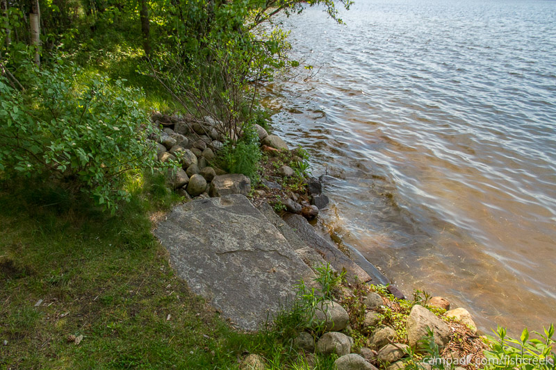Campsite Photo of Site 99 at Fish Creek Pond Campground, New York - Shoreline