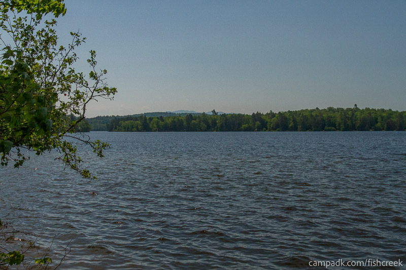 Campsite Photo of Site 99 at Fish Creek Pond Campground, New York - View from Shoreline