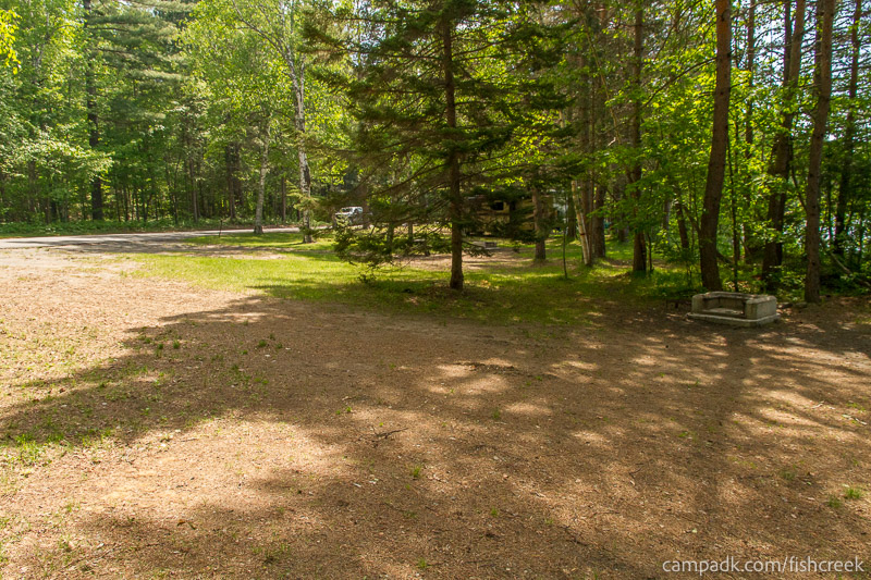 Campsite Photo of Site 100 at Fish Creek Pond Campground, New York - Cross Site View