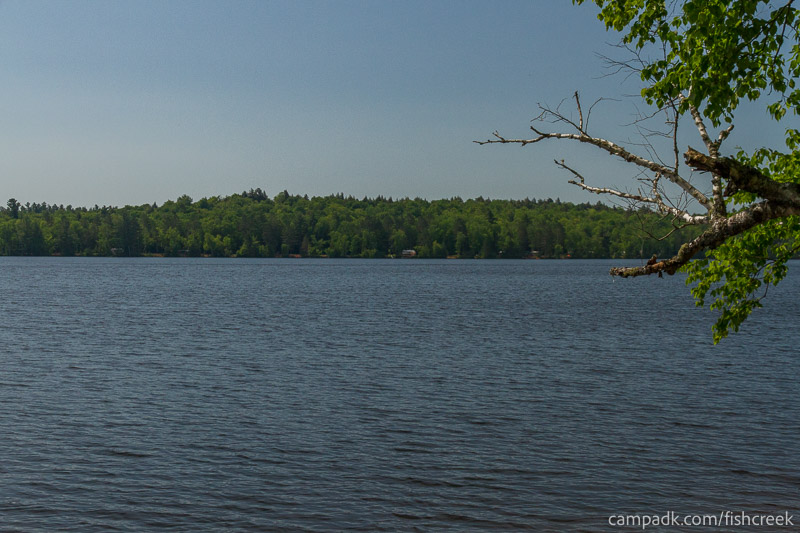 Campsite Photo of Site 111 at Fish Creek Pond Campground, New York - View from Shoreline
