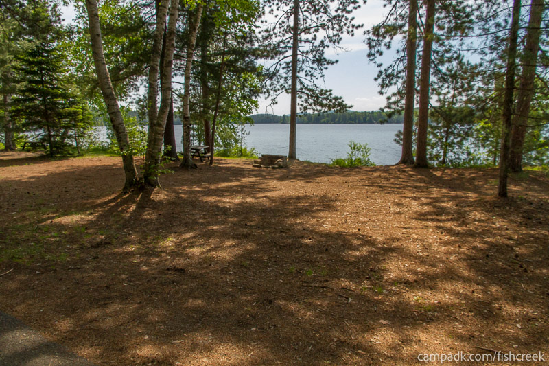 Campsite Photo of Site 116 at Fish Creek Pond Campground, New York - Looking at Site from Road