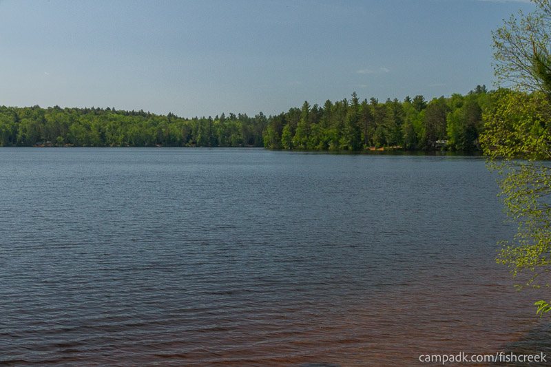 Campsite Photo of Site 116 at Fish Creek Pond Campground, New York - View from Shoreline