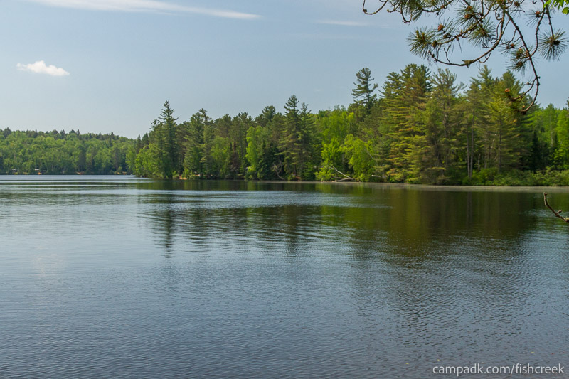Campsite Photo of Site 123 at Fish Creek Pond Campground, New York - View from Shoreline