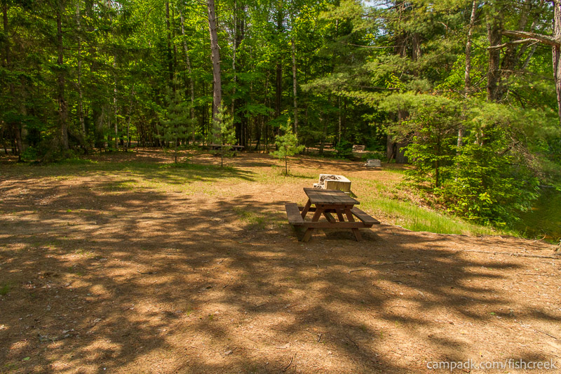 Campsite Photo of Site 170 at Fish Creek Pond Campground, New York - Cross Site View