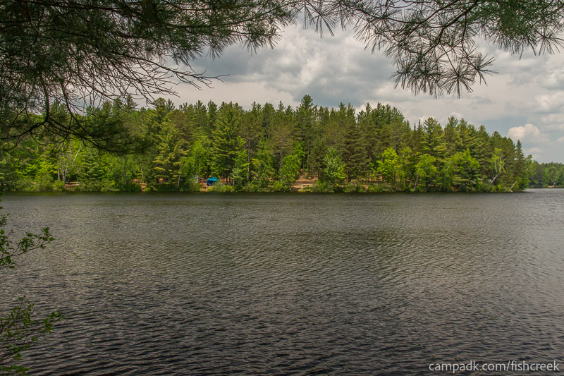 Campsite Photo of Site 175 at Fish Creek Pond Campground, New York - View from Shoreline