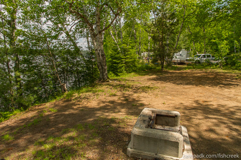 Campsite Photo of Site 179 at Fish Creek Pond Campground, New York - Cross Site View