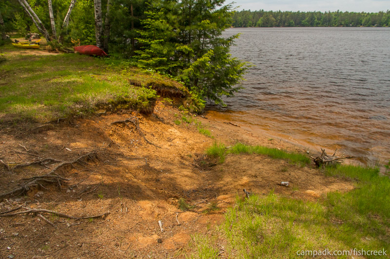 Campsite Photo of Site 200 at Fish Creek Pond Campground, New York - Shoreline