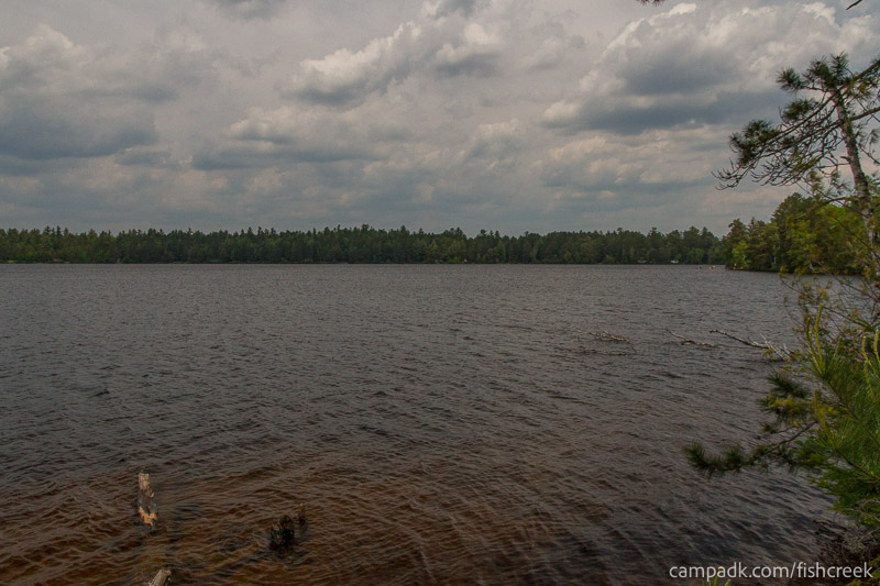 Campsite Photo of Site 200 at Fish Creek Pond Campground, New York - View from Shoreline