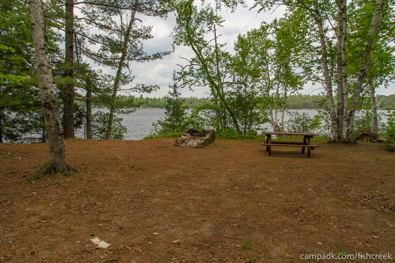 Campsite Photo of Site 204 at Fish Creek Pond Campground, New York - Looking at Site from Part Way In