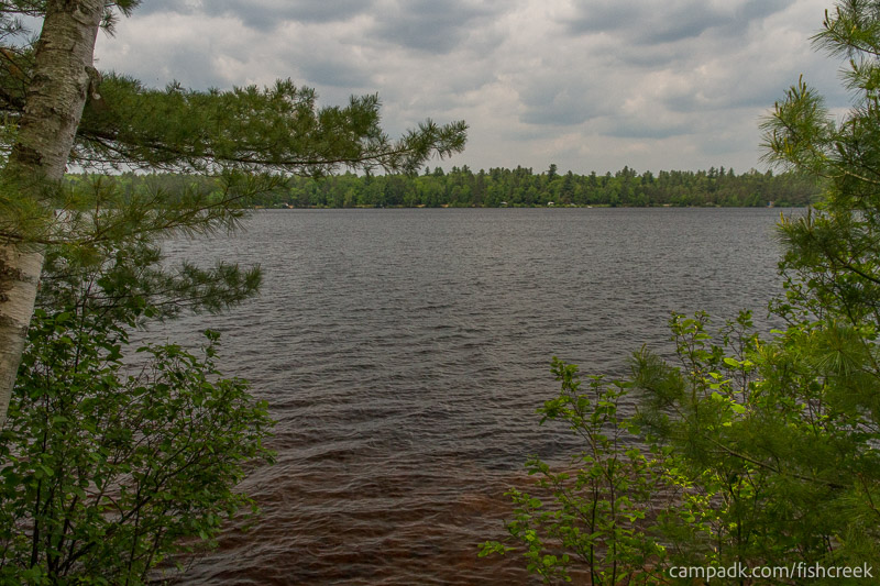 Campsite Photo of Site 204 at Fish Creek Pond Campground, New York - View from Shoreline
