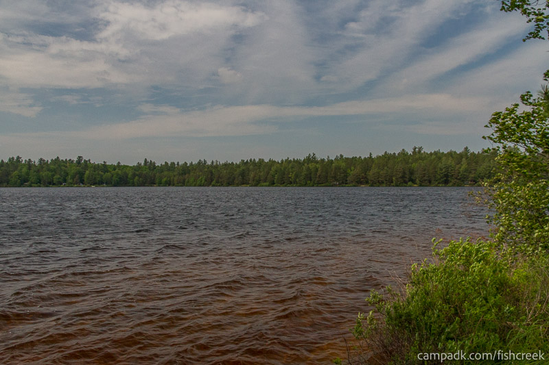 Campsite Photo of Site 217 at Fish Creek Pond Campground, New York - View from Shoreline