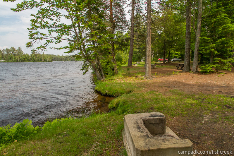 Campsite Photo of Site 221 at Fish Creek Pond Campground, New York - Cross Site View