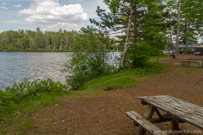 Campsite Photo of Site 247 at Fish Creek Pond Campground, New York - Cross Site View