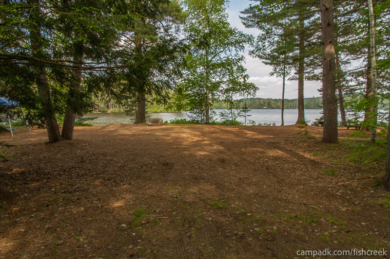 Campsite Photo of Site 251 at Fish Creek Pond Campground, New York - Looking at Site from Road