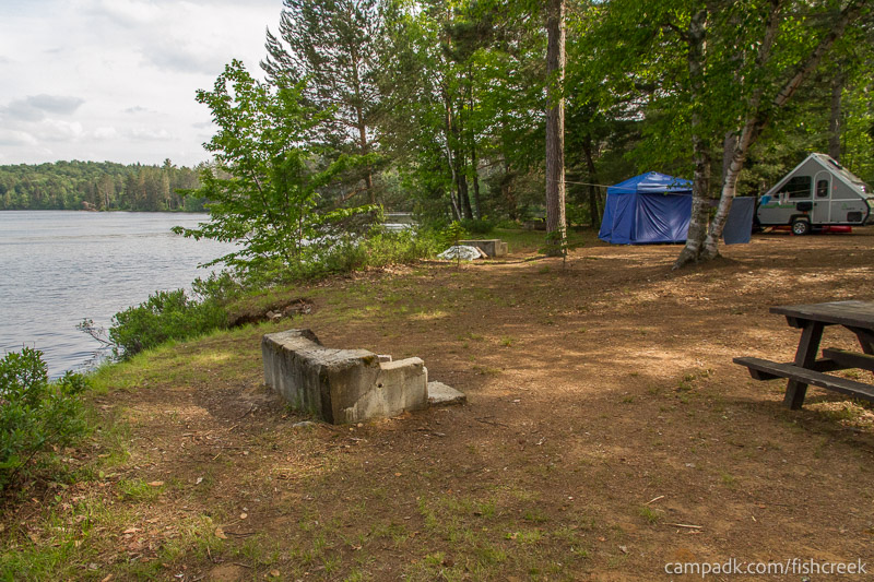 Campsite Photo of Site 256 at Fish Creek Pond Campground, New York - Cross Site View