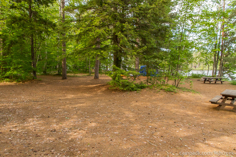 Campsite Photo of Site 259 at Fish Creek Pond Campground, New York - Cross Site View