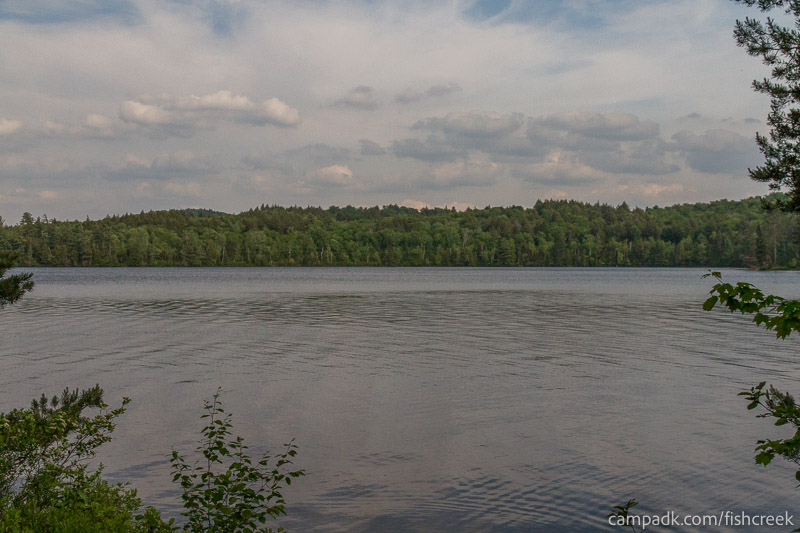 Campsite Photo of Site 259 at Fish Creek Pond Campground, New York - View from Shoreline