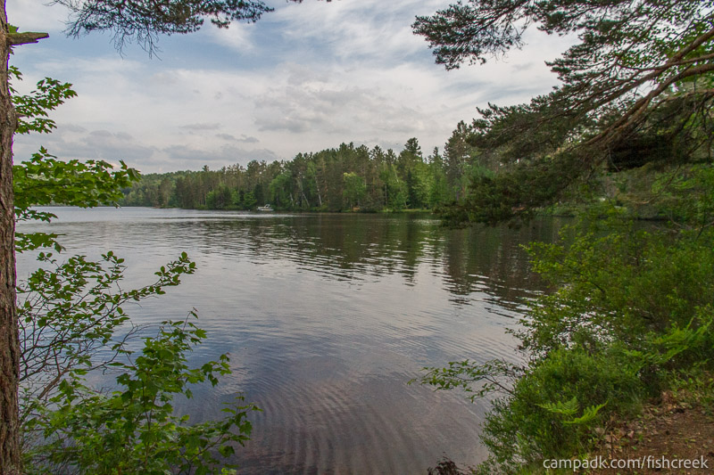 Campsite Photo of Site 260 at Fish Creek Pond Campground, New York - View from Shoreline