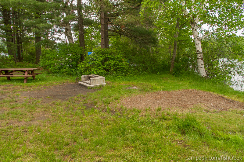 Campsite Photo of Site 69 at Fish Creek Pond Campground, New York - Cross Site View