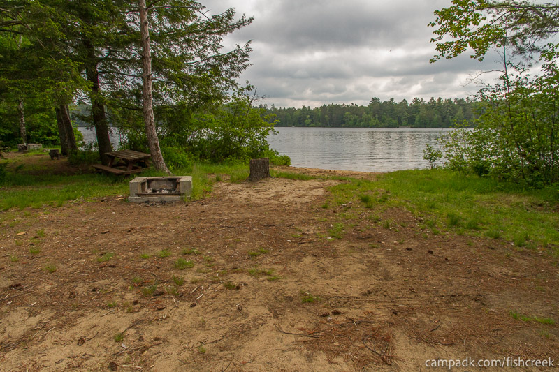 Campsite Photo of Site 66 at Fish Creek Pond Campground, New York - Cross Site View