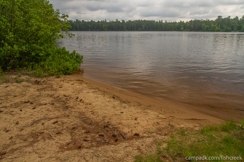 Campsite Photo of Site 66 at Fish Creek Pond Campground, New York - Shoreline