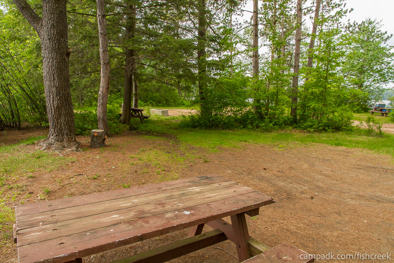 Campsite Photo of Site 65 at Fish Creek Pond Campground, New York - Cross Site View