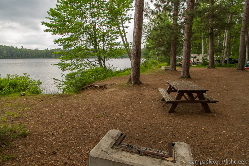 Campsite Photo of Site 59 at Fish Creek Pond Campground, New York - Cross Site View