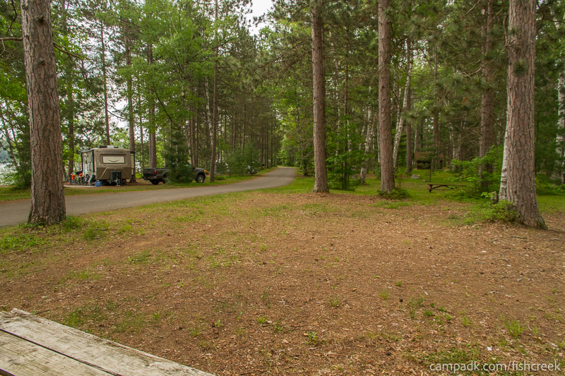 Campsite Photo of Site A4 at Fish Creek Pond Campground, New York - Cross Site View