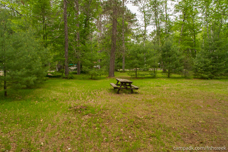 Campsite Photo of Site A2 at Fish Creek Pond Campground, New York - Cross Site View