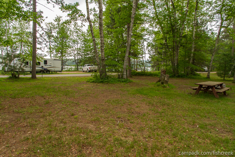 Campsite Photo of Site A1 at Fish Creek Pond Campground, New York - Cross Site View