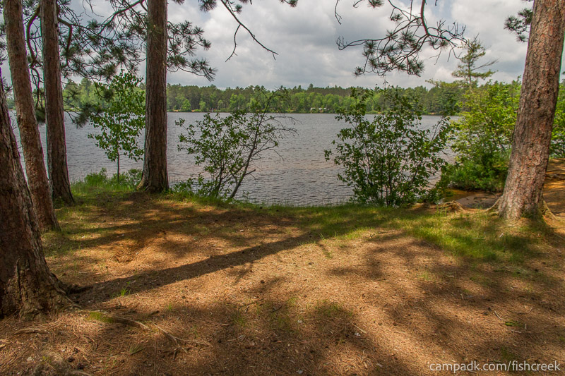 Campsite Photo of Site 16 at Fish Creek Pond Campground, New York - Pathway Down to Water