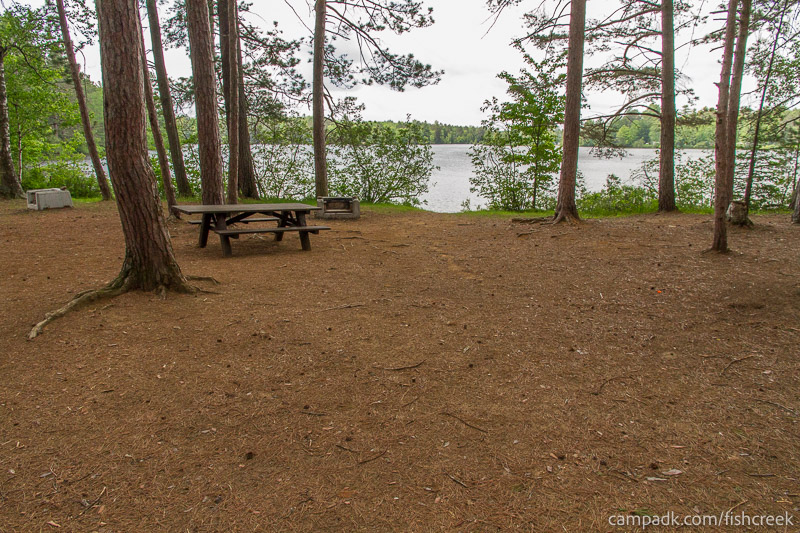 Campsite Photo of Site 10 at Fish Creek Pond Campground, New York - Looking at Site from Part Way In