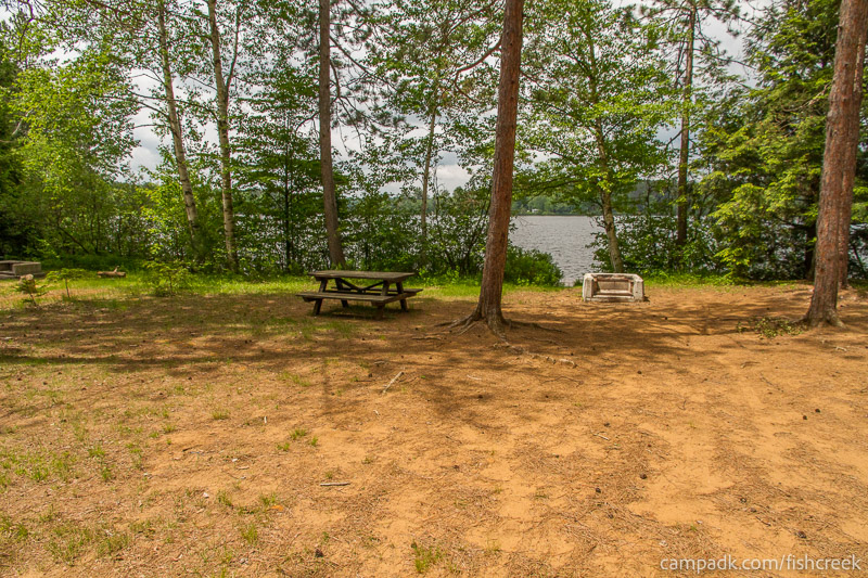 Campsite Photo of Site 7 at Fish Creek Pond Campground, New York - Looking at Site from Part Way In