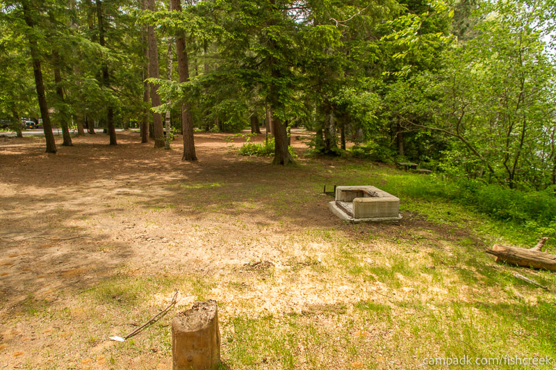 Campsite Photo of Site 6 at Fish Creek Pond Campground, New York - Cross Site View