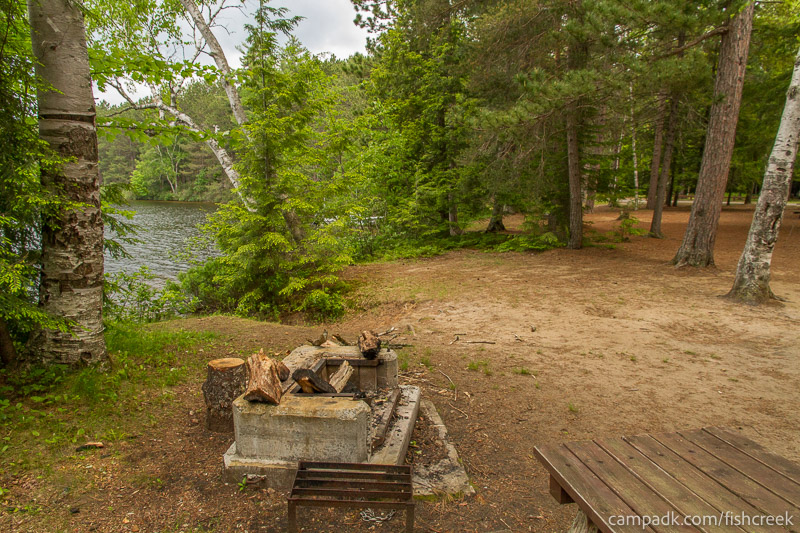 Campsite Photo of Site 4 at Fish Creek Pond Campground, New York - Cross Site View