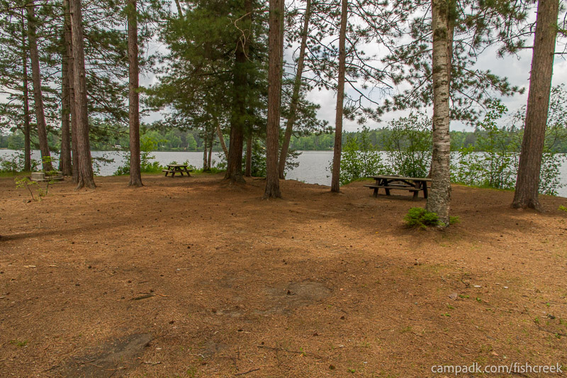 Campsite Photo of Site 2 at Fish Creek Pond Campground, New York - Looking at Site from Road