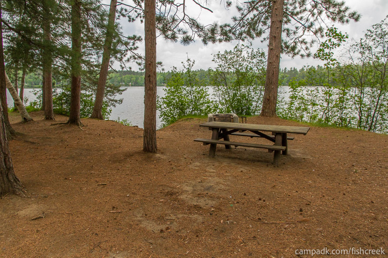Campsite Photo of Site 2 at Fish Creek Pond Campground, New York - Looking at Site from Part Way In