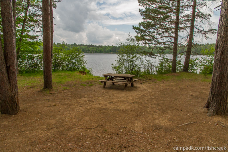 Campsite Photo of Site 1W at Fish Creek Pond Campground, New York - Looking at Site from Part Way In