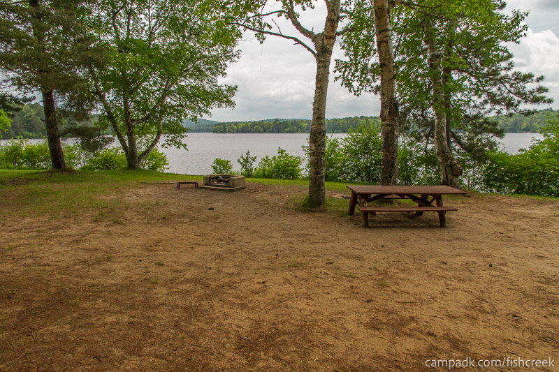 Campsite Photo of Site 105 at Fish Creek Pond Campground, New York - Looking at Site from Part Way In