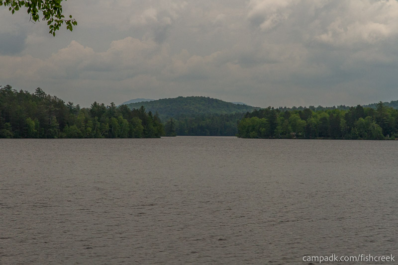 Campsite Photo of Site 105 at Fish Creek Pond Campground, New York - View from Shoreline