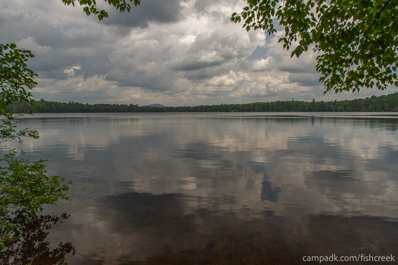 Campsite Photo of Site 126 at Fish Creek Pond Campground, New York - View from Shoreline