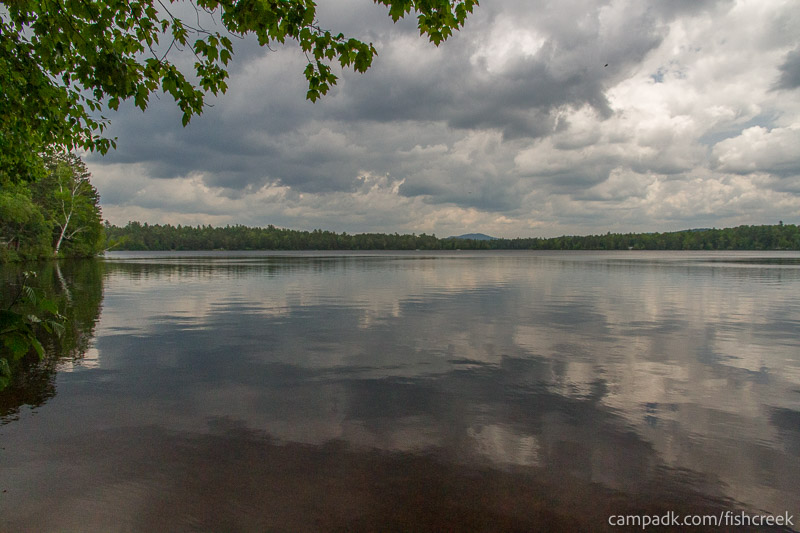 Campsite Photo of Site 127 at Fish Creek Pond Campground, New York - View from Shoreline